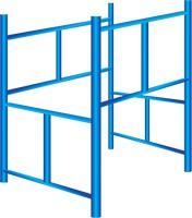 Andaimes tubulares com escada
